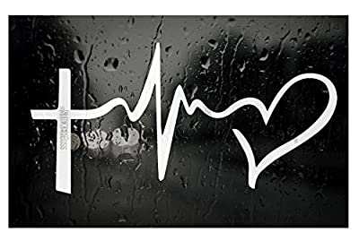 "FAITH HOPE LOVE Vinyl Decal Sticker Car Window Wall Bumper Symbol Heart Cross 8"" - Beautiful Decal - Unique Design -"