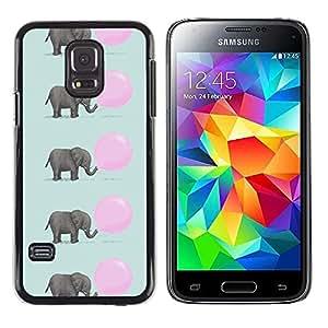 Be Good Phone Accessory // Dura Cáscara cubierta Protectora Caso Carcasa Funda de Protección para Samsung Galaxy S5 Mini, SM-G800, NOT S5 REGULAR! // elephant cute pink balloon patt