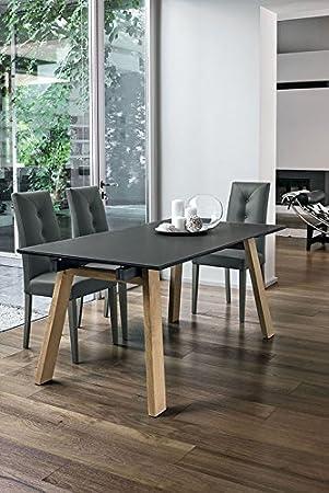 TARGET POINT Tisch Giove 160 Holz und Glas Graphit: Amazon ...