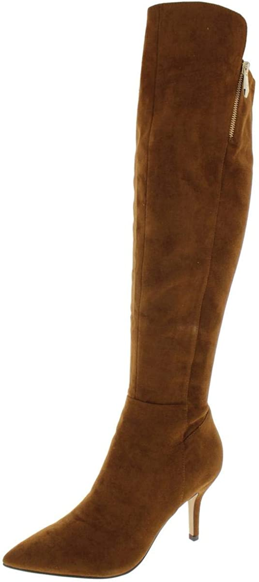 Marc Fisher Womens Thora 2 Faux Suede Pointed Toe Over-The-Knee Boots