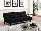 DHP Allegra Pillow-Top Futon, Black