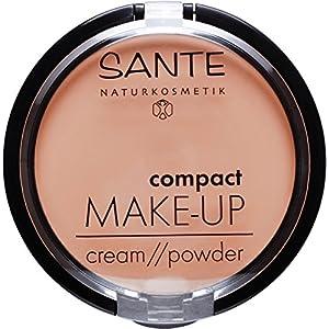SANTE maquillage naturel avec miroir et huppe à poudre, végane, extraits bio (9 g)