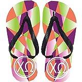 omega sandals - Chi Omega Flip Flops (Large)