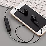 Loveje Bluetooth Wireless In-Ear Earphones Bass Stereo Sports Running Gym headphone Neckband Headphone with Mic (Black)