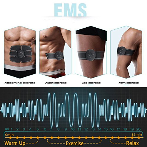 ABS Stimulator Portable Ultimate Abdominal Muscle Toner Unisex Massage Toning Belt for Abdomen/Arm/Leg Training
