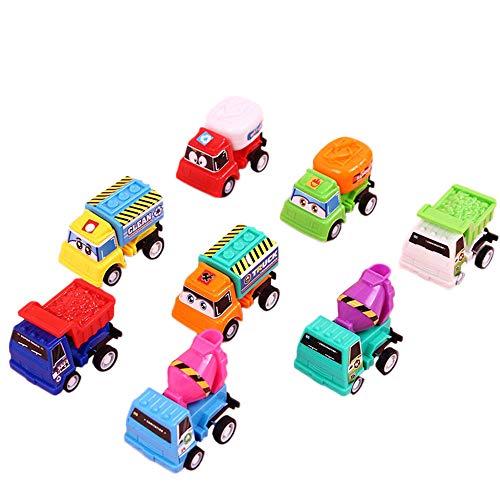 - FarJing 8pcs Pull Back Car Toy Mini Cars Cartoon Kids Toys for Children Boys Gifts