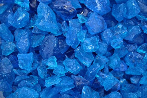 Margo Garden Products 10 lb. Medium Turquoise Recycled Landscape Fire Glass