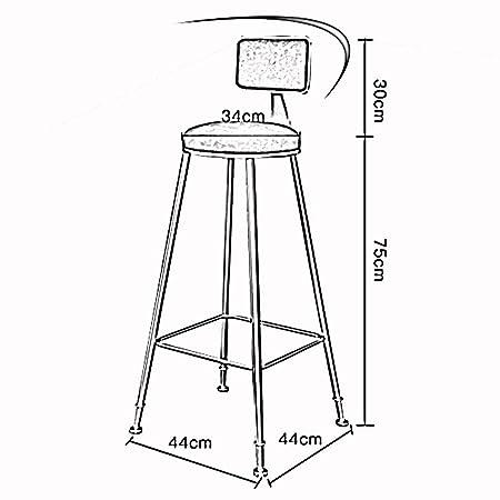 Amazon.com: LJFYXZ Taburete de barra de hierro, silla de ...