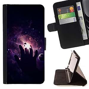 For LG G4 Case , Cosmos Espacio Profundo significativa Negro- la tarjeta de Crédito Slots PU Funda de cuero Monedero caso cubierta de piel