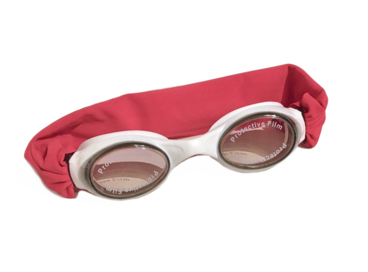 "Splash Candy Apple"" Swim Goggles - Fun Fashionable Comfortable - Fits Kids & Adults - Won't Pull Your Hair - Easy to Use - High Visibility Anti-Fog Lenses - Patent Pending"