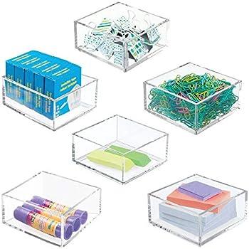 Amazon.com : mDesign Small Mini Plastic Stackable Home