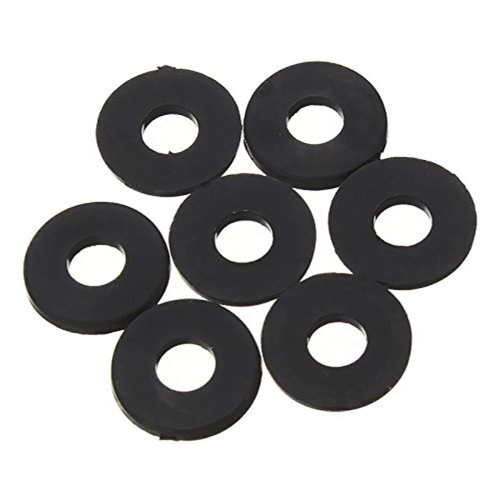 Vektenxi M2 x 5mm x 1mm Nylon Flache Isolierscheiben Dichtungen Abstandshalter Schwarz 200 ST/ÜCKE Hohe Qualit/ät
