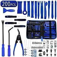 Wetado Trim Removal Tool, 200PCS Trim Tool Auto Removal Kit, Plastic Panel Fastener Removal Tool, Trim Removal