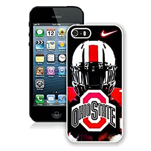 iPhone 5 5S Case ,Unique And Fashionable Designed Case With Ncaa Big Ten Conference Football Ohio State Buckeyes 46 White For iPhone 5 5S Phone Case