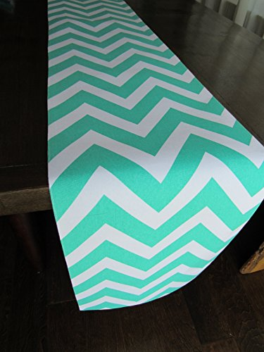 Chevron Patterned Table Runner Turquoise