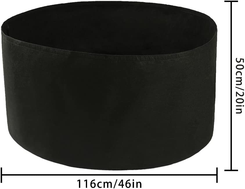 150 Gallons Deep Soil Diameter 46//Height 22 Planting Container Grow Bags Durable Felt Fabric Planter Pot for Plants,Vegetables,Flowers ASSR Extra Large Round Raised Garden Bed