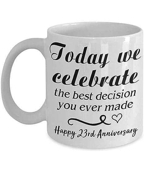 Anniversario Di Matrimonio Regali Per Lui.Amynovelty Celebriamo La Tazza Di Caffe Idee Regalo Per Il 23