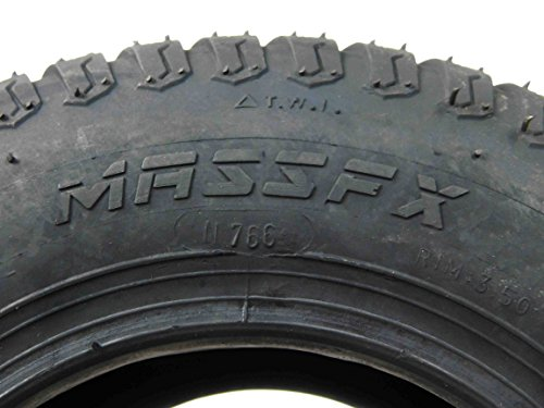 MASSFX Lawn Mower and Garden Tires 13x5-6 MO1356 4 PLY 3mm Tread 2 Tire Set by MASSFX (Image #2)