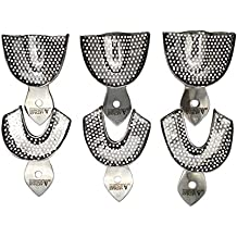 Dental Impression trays 6 Small Medium Large upper and Lowers stainless steel by Wise Linkers USA