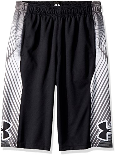 Under Armour Boys Space The Floor Shorts, Black (001)/Black, Youth X-Small