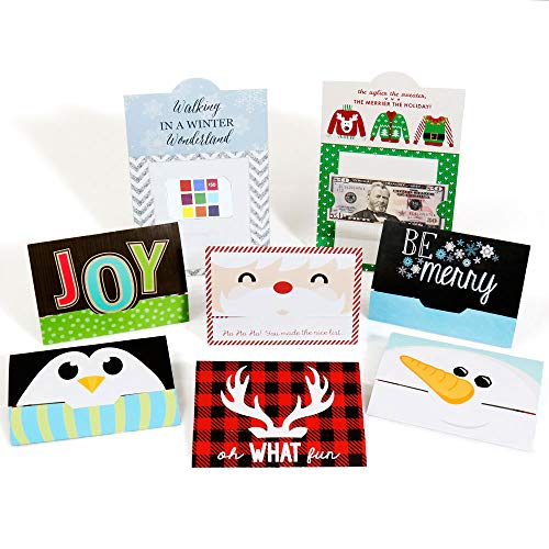 - Assorted Holiday Cards - Christmas Money and Gift Card Holders - Set of 8