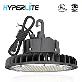 Hyperlite LED High Bay Light   14000LM( 100W )Dimmable LED UFO High Bay Lighting   UL/DLC Approved   5000K Commercial Lights   US Hook Included   Alternative to 450W MH/HPS   5 Yr Warranty