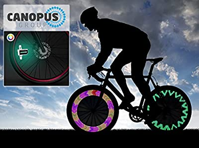 Canopus Brand Wheel LED Light, Waterproof Spoke Lights, 30 different Pattern