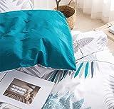 SLEEPBELLA Queen Size Comforter Set White Leaf