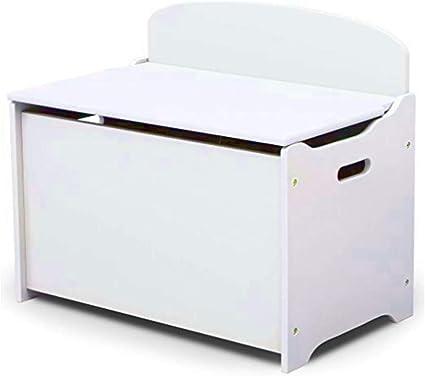 White Wooden Toys Box Storage Unit Ottoman Bench for Kids Childrens Chest /& Lids