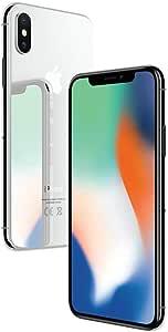 Apple iPhone X Silver 64GB SIM-Free Smartphone (Renewed)