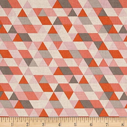 Riley Blake Ava Rose Geometric Coral Fabric By The Yard
