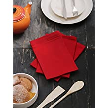 Kitchen Napkins, 100% Cotton, Set of 12, Red 18 inches x 18 inches, Perfect use for Events and Regular Home Usage. Perfect Choice of Napkins.
