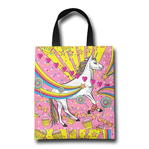 Rainbows Lollipops And Unicorns Lichunxu Women Heavy Cute Duty Shopping Gift Bags New Year Reusable Grocery Tote Thick - Woman Illustration Shopping