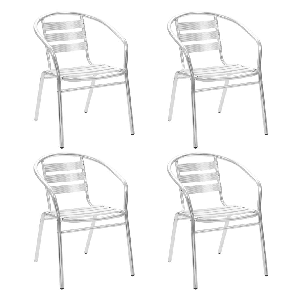Chaise dext/érieur Aluminium 54 x 59 x 73 cm Chaise de Balcon Chaise de Salle /à Manger Tidyard 2 pcs Chaises Empilables de Jardin
