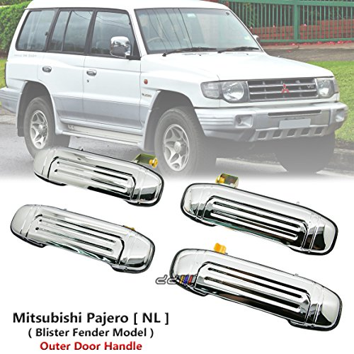 Set x4 Chrome Front Rear Outer Door Handle For Mitsubishi Pajero Montero NL 1997-99 Mitsubishi Montero Set