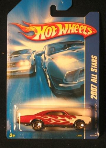 Hot Wheels 2007-137 All Stars 1967 Pontiac GTO RED w/White Flames 1:64 Scale