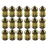 AAF Antique Light Socket Brass, Keyless, Medium Base, Pack of 18