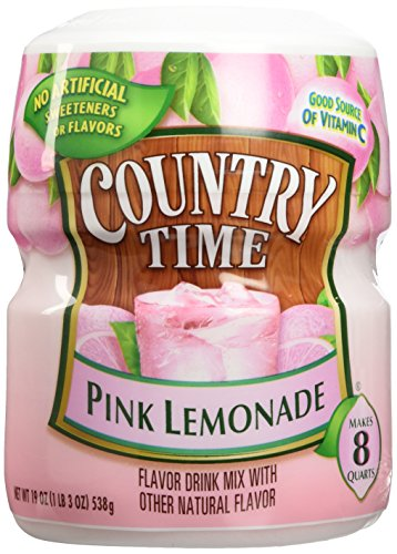 Country Time Pink Lemonade Flavor Drink Mix- Pack of 2 Canisters (19 oz -