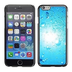Paccase / SLIM PC / Aliminium Casa Carcasa Funda Case Cover - Blue Water Drop 2 - Apple Iphone 6