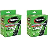2 x Slime Bike Inner Tubes 700 x 28-32c Presta Valves - Slime Filled To Instantly Seal And Repair Punctures