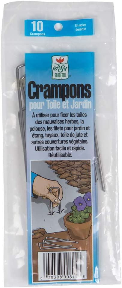 Easy Gardener 814 016069003937 Fabric & Garden Staples Attaches Landscape Fabric and Turf to Soil (4, 10