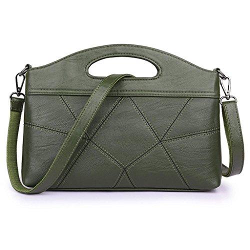 Pacchetto Shotbaon Spalla Lavoro Pu Moda In Singolo Piccolo Green Quadri Pelle Croce Diagonale A Ladies Borsa pO6prPq