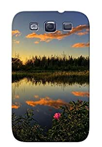 New Style pc S3 Protective Case Cover/ Galaxy Case - Sunrise At The Pond