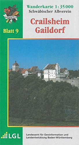 Crailsheim - Gaildorf: Wanderkarte 1:35.000