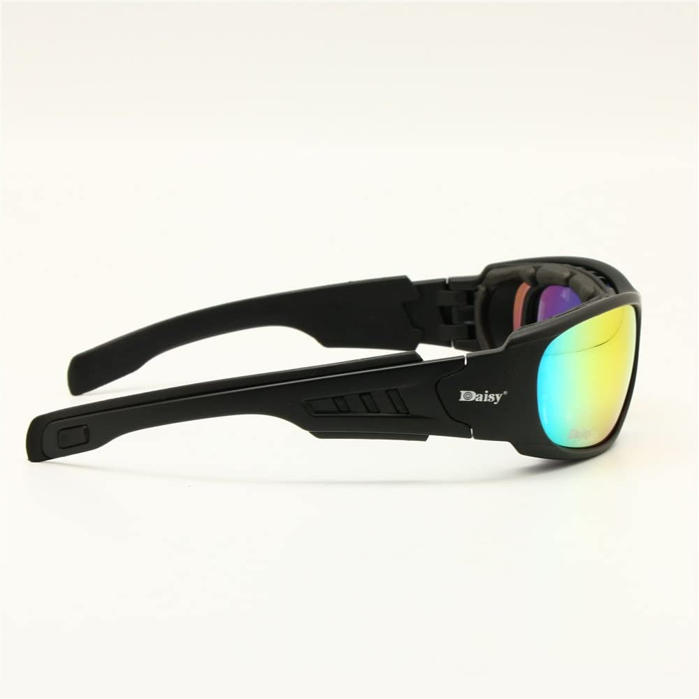 EnzoDate Daisy C6 Polarized Ballstic Army Sunglasses Military Goggles Rx Insert Combat War Game Tactical Glasses