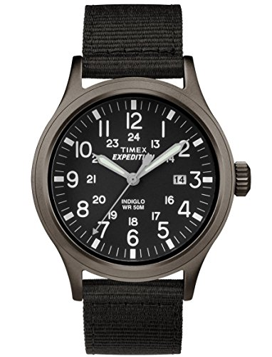 Timex #TW4B06900 Men's Expedition Scout Military Indiglo Slip-Thru Band Watch