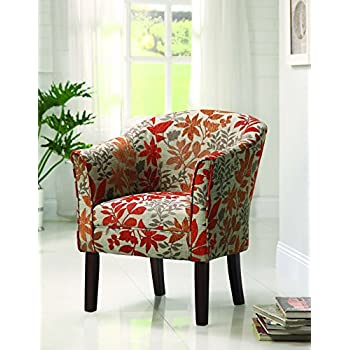 Upholstered Accent Chair Multi-color and Cappuccino