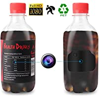Hidden Camera, 1080P Full HD Portable Plastic Drinking Water Bottle Nanny Tiny Camera with Motion Detection for Home Security Surveillance (2018 Upgraded Version)