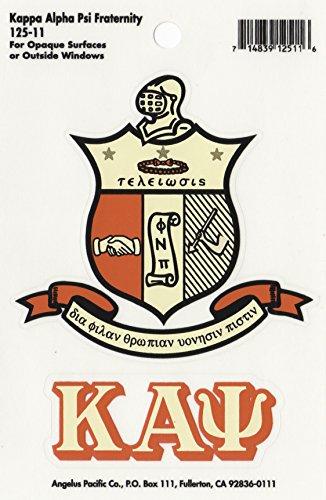 Kappa Alpha Psi Fraternity Crest Sticker (Sticker Crest)