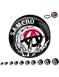 "Samcro Acrylic Screw Fit Plugs 2g-1"""